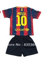 2013-2014 barca Messi #10 kids boys girl player version football soccer jersey shirt embroidery customize home blue away yellow