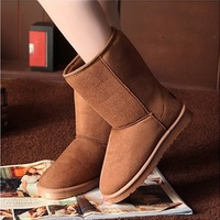 Autumn winter slip-resistant flat heel knee-high boots Women snow boots cotton shoes warm women boots