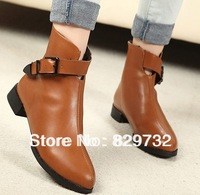 Free shipping 2014 female Autumn and winter boots flat platform fashion martin boots women genuine leather shoes