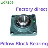 30mm diameter UCFU306 UCF306 Pillow Block Bearing Insert bearing and Bearing Housing Square Block F306