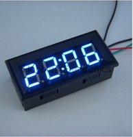 "0.56"" Blue LED Panel Clock Digital Car Auto Motor DC 12V 24V Powered Clock Time Free Registered Shipping"