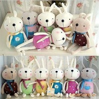 Child gift plush rabbit small mobile phone key chain