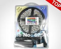 Free shipping High quality 5050 300led 5M RGB AC220v 12v LED Strip SMD 60led/m indoor waterproof led strip 24 key controller