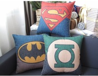 #646 Superman // Batman//  Green Lantern home bedding sofa cushion cover pillow case free shipping wholesale min1pcs