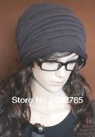 1pcs Sal Korean version of popular folding cap,Winter hat,Fashionable men and women knitting wool cap,Free shipping