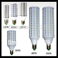 5630 SMD cree chip E27 B22 E1412W/15W/25W/30W/40W/50W LED 110V/ 220V AC led bulb  white warm white blub corn