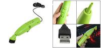 Computer Keyboard Dust Scrap USB 2.0 Mini Vacuum Cleaner Green