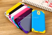 Dual Color PC With Silicone Combo Hard Case Cover For Samsung Galaxy Note 3 N9000 100pcs/lot