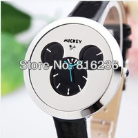 Simple mouse watch, fashion leather strap, classic children