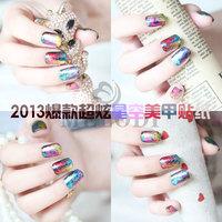 2013 hot-selling nail art paper colorful paper color foil metal transfer paper applique