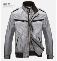 Male coat autumn spring and autumn male jacket stand collar business casual top men's clothing jacket thin outerwear