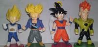 Wholesale 100% brand new Japana anime 4pcs dragon ball Goku pvc figure toys tall 10cm set.Free shipping 4pcs/set