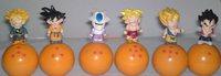 Free shipping 6pcs dragon ball tumbler style Goku Vegeta Gohan pvc with ABS figure toy tall 5cm set.Wholesales 6pcs/set.