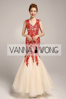 E21 MERMAID RED IVORY COLOR LACE SEXY ELEGANT BRIDAL WEDDING DRESS CUSTOM MADE GOOD QUALITY