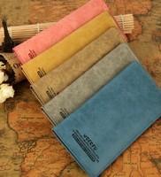 2013 male women's long design genuine leather wallet fashion lovers wallet