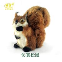 Artificial animal crafts squirrel derlook birthday gift m008