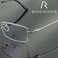 2013 Original Top Quality RODENSTOCK r6055b Fashion 100% Titanium Eyeglasses Optical Frame Half Spectacle Frame Eyewear