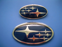 Front and rear emblem SUBARU forester subaru emblem discontinuing