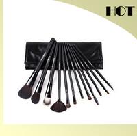 Free Shipping 12 cosmetic brush set animal wool cosmetic brush set professional make-up tools area