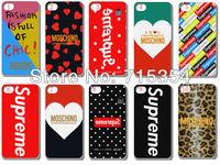hot!!!Unique Newest Designs!!wholesale 10PCS supreme hard white case back cover for iPhone 5 5th 5G