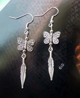 National trend accessories tibetan silver earrings butterfly silver earrings drop earring yc179