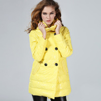 2013 lace female medium-long down coat  Free Shipping