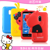 Free shipping new arrival hot sale 3d cartoon cute cat duck silicone soft case cover For NOKIA lumia 620