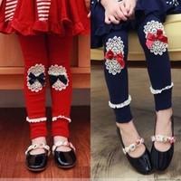 2013 children's clothing female child legging spring and autumn lace decoration child legging