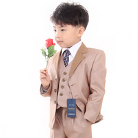 Boys clothing boy child formal flower girl formal dress blazer suit three pieces set kids suit