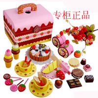 Fruit qieqie see wooden birthday cake mother garden birthday cake toy