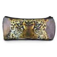 New!!! leopard round animal pencil case kids wholesale nylon pen case cute school stationary , Bistar Gaxaxy BBP101P