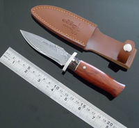 Damascus hunting camping knives  Fixed Blade Knife Eastern Europe knife Smiths fox  miscrotech knives