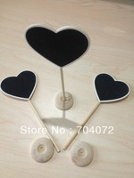 2015 Real Direct Selling Wedding Decoration Wooden Black/chalk Board Heart Stand Table Decoration Wedding Number 19cm 100pcs