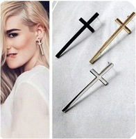 ES523  Fashion 2014 New Cross Earrings Retro Temperament Wholesales Free Shipping