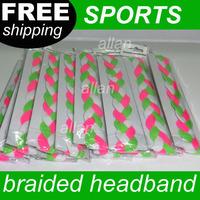 100pcs braided nylon sports headband