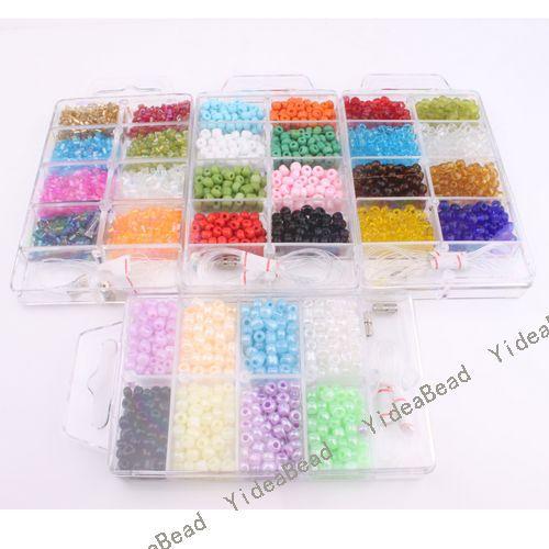 5pcs Boxes Charms Mixed Jewellery Making Seed Beads Sets 110242(China (Mainland))