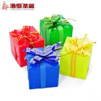 Christmas tree decoration 5cm flash led with light multicolour christmas bow small gift box 20g