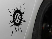 Free Shipping VW Volkswagen GOLF Scirocco R20GTI SAGITAR graffiti vw LOGO reflective/pure color stickers,custom made