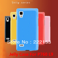 Jelly silicon cover protective case For LG P760 P765 P769 Optimus L9 mobile phone free shipping