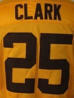Free Shipping #25 Ryan Clark 1933 throwback Men's Elite Football Jersey,Embroidery and Sewing Logos,Size M--3XL ,Mix Order