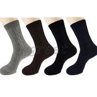 Wholesale Unisex Men Fashion Thick Comfort Knitted Athletic Sports Socks 3 Pairs/lot Free Shipping