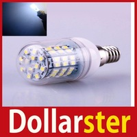 [Dollar Ster] E14 5W 60 LEDs 3528 SMD Cover Corn Spotlight Light Lamp Bulb Warm Pure White 24 hours dispatch