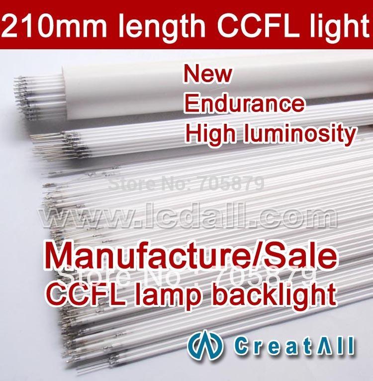 10pcs/lot 210MM length LCD CCFL lamp backlight , CCFL backlight tube,210MMx2.0mm(China (Mainland))