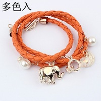 Multi-layer bracelet female summer all-match fashion knitted pearl sweet crowd
