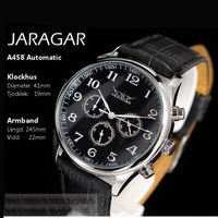 Free Shipping Luxury Jaragar Fmouse Brand Self-Wind Automatic Mechanical Men's Wrist Watches Leather Strap Watch Best Gift
