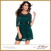 Free Shipping European Style Women OL Dress Sexy Lace Bodycon Female Cute Dress