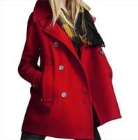 2013 new autumn winter woolen coat female woolen coat and long sections Slim Korean women