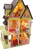 DIY Dollhouse Miniature Kit Happy Coast My Villa Love Happiness Beach Home House Building With Box Music LED