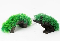 Free shipping 2pcs/bag aquarium fish tank decorative plstic driftwood