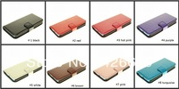 High Quality PU Leather Wallet Case For iPhone 5C100pcs/lot DHL Free shipping